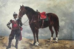 Reiter mit Pferd - Ein Gemälde von Friedrich August de Leuw
